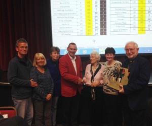The Winning Blackbirds with genial Questionmaster Jeremy Birch