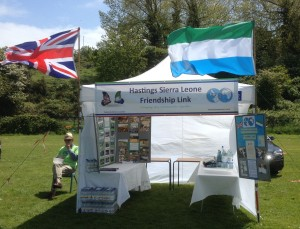 The Link's info stand (with the new banner)
