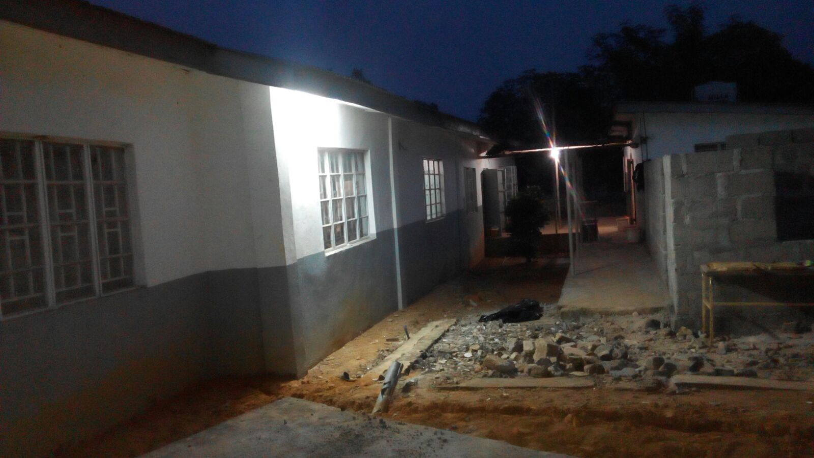 External lighting to the Health Centre