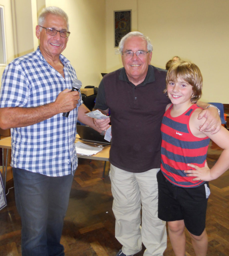 Richard congratulates two generations from the winning team: Unit 4 + 2 and a half