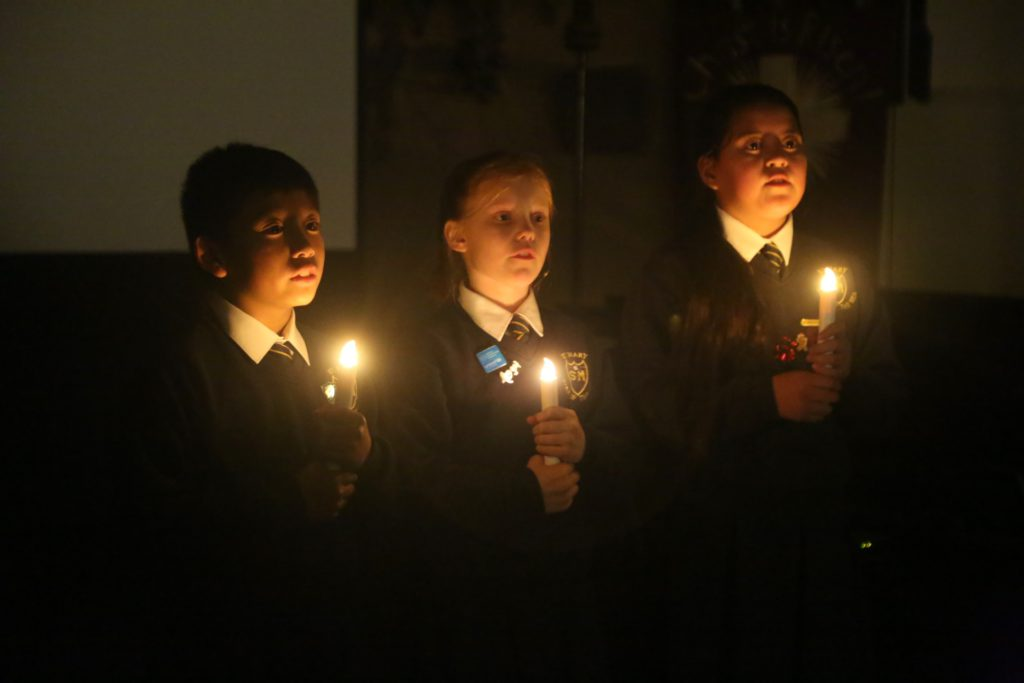 St Mary's choristers sang by candlelight